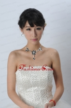 Gorgeous Dazzling Rhinestone Jewelry Set Necklace And Headflower ACCJSET184FOR