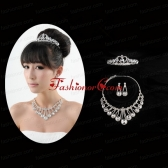 Gorgeous Dazzling Rhinestone Jewelry Set Necklace And Tiara ACCJSET185FOR