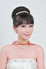 Ivory Pearl Two Piece Ladies Necklace and Tiara Jewelry Set ACCJSET080FOR