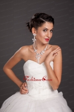 Luxurious Alloy Crystal Necklace And Earring Set JDZH076FOR