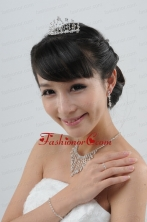 Pretty Necklace Taira and Earrings Jewelry Set in Silver ACCJSET239FOR
