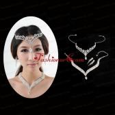 Princess Rhinestone Jewelry Set Including Necklace Tiara And Earrings ACCJSET197FOR