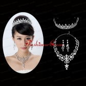 Unique Alloy With Rhinestone Ladies Jewelry Sets ACCJSET163FOR