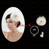 Unique Headpiece with Jewelry Set Including Necklace Earrings and Bracelet ACCJSET207FOR