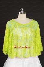 2014 Beading Lace Yellow Green Hot Sale Wraps JSA005-29FOR