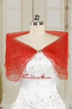 2014 Beautiful New Style Beading Shawls in Coral Red JSA025-1FOR
