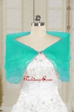 2014 Cheap Turquoise Open Front Shawls with Beading JSA025-9FOR