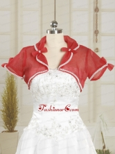 2014 Coral Red Wedding Party Shawls with Beading JSA004-22FOR