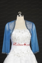 2014 Discount Baby Blue Long Sleeves Wraps with Beading JSA014-25FOR