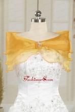 2014 Elegant Organza Beading Shawls for Gold JSA001-32FOR