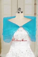 2014 Fall New Style Aqua Blue Shawls with Beading JSA025-10FOR