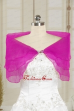 2014 Hot Pink Beading Shawls for Wedding Party JSA025-22FOR