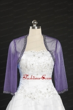 2014 Lavender Long Sleeves Wraps with Beading JSA014-5FOR
