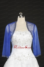 2014 Long Sleeves Blue Wraps with Beading JSA014-2FOR