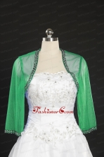 2014 Long Sleeves Turquiose Wraps with Beading JSA014-22FOR