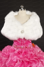 2014 Luxurious Rabbit Fur Party Wraps in White JSA011FOR