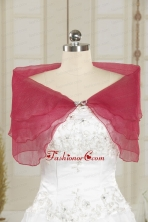 2014 New Style Beading Coral Red Shawls JSA025-26FOR