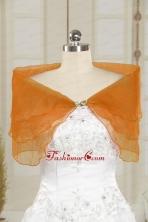2014 New Style Beading Orange Shawls JSA025-4FOR