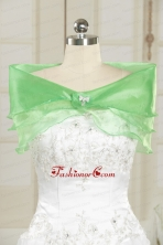 2014 New Style Beading Orange Shawls in Spring Green JSA002FOR