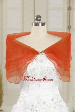 2014 New Style Orange Red Shawls with Beading JSA025-2FOR