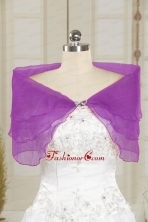 2014 Open Front Beading New Style Shawls in Purple JSA025-19FOR