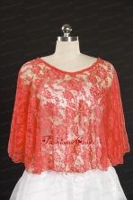 2014 Popular Red Beading Lace Wraps for Summer JSA005-3FOR