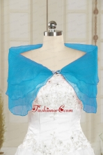 2014 Simple New Style Blue Shawls with Beading JSA025-11FOR