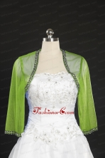 2014 Spring Green Beading Wraps with Long Sleeves JSA014-19FOR