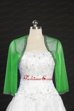 2014 Spring Long Sleeves Green Wraps with Beading JSA014-21FOR