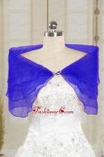 2014 Winter Beautiful Blue Shawls with Beading  JSA025-16FOR