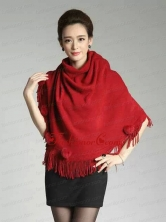 2015 Burgundy Knitted Fabric Wonderful Wraps ACCWRP030FOR