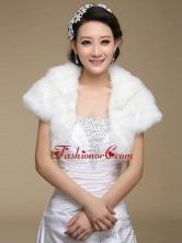 2015 Fashionable Faux Fur White Wraps ACCWRP035FOR