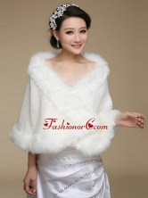 2015 High Quality Front Closure Shawl in White ACCWRP022FOR