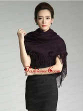 2015 Knitted Fabric Inexpensive Wraps in Black ACCWRP031FOR