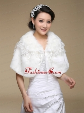 2015 Most Popular Faux Fur White Wraps ACCWRP045FOR