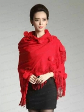 2015 Perfect Red Wraps with Knitted Fabric ACCWRP029FOR