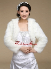 2015 White Rabbit Fur Shawls with Long Sleeves ACCWRP014FOR