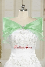Affordable Organza Beading Shawls for Wedding JSA001-18FOR