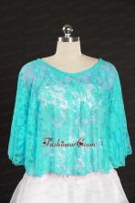 Beading Lace Hot Sale Aqua Blue Wraps for 2014 JSA005-8FOR
