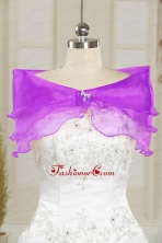 Beautiful Organza Beading Shawls for Wedding JSA001-27FOR