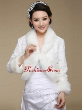 Brand New Long Sleeves Faux Fur Wraps for 2015 ACCWRP021FOR