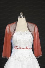 Cheap Red Long Sleeves Beading Wraps in 2014 JSA014-11FOR