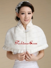 Elegant Faux Fur 2015 Shawl With Button Front Closure ACCWRP028FOR