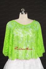 Elegant Spring Green Beading Lace Hot Sale Wraps for 2014 JSA005-30FOR