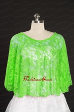 Green Beading Lace Hot Sale Wraps for 2014 JSA005-28FOR