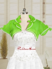 Green Wedding Party Beading Shawls with Open Front JSA004-7FOR