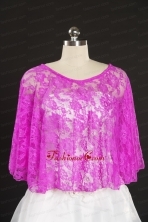 Hot Pink Beading Lace Hot Sale Wraps for 2014 JSA005-14FOR