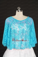 Lace Beading Hot Sale 2014 Wraps for Baby Blue JSA005-25FOR