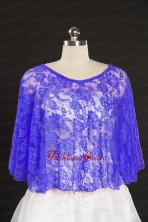 Lace Hot Sale 2014 Purple Wraps with Beading JSA005-22FOR