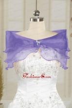 Lavender Organza Beading Shawls for Wedding JSA001-23FOR